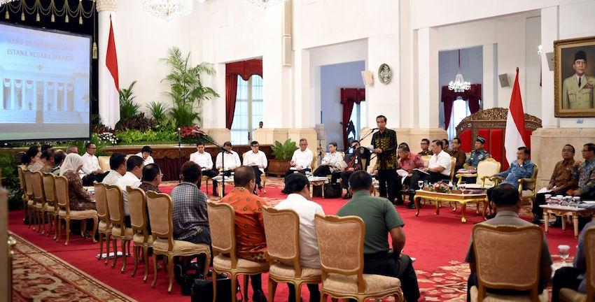 Presiden: Para Menteri Harus Kendalikan Arah dan Kebijakan Anggaran Kementeriannya