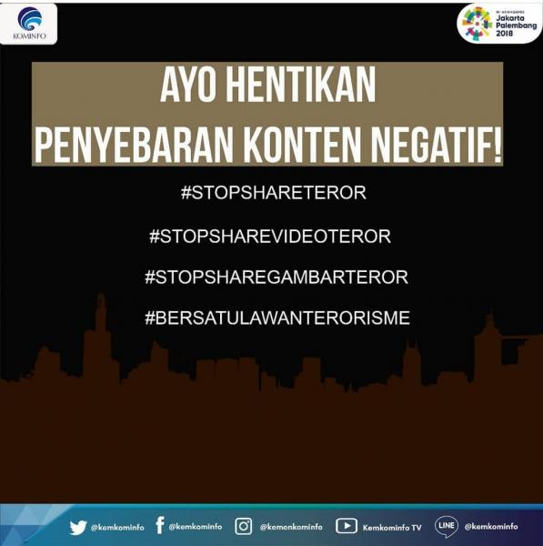 Imbauan Menkominfo Agar Tak Sebar Konten Negatif Aksi Terorisme