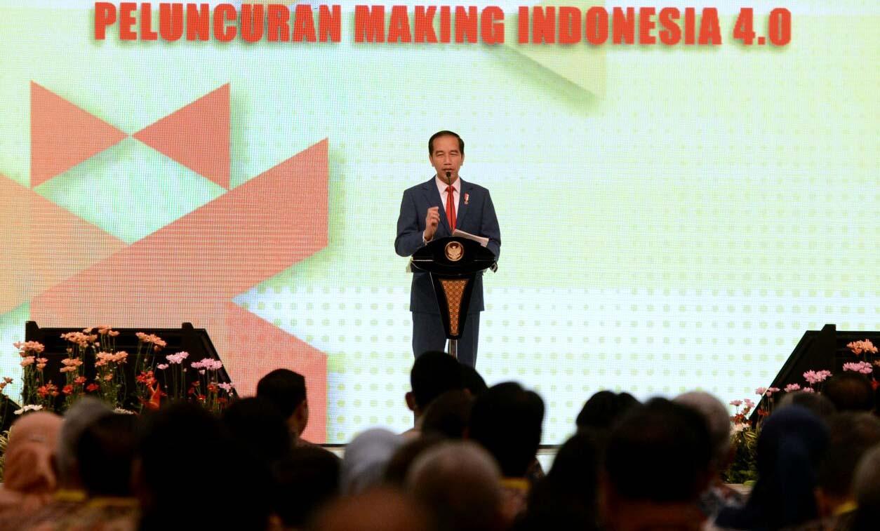 Presiden Jokowi pada peluncuran Industri 4.0 | Sumber: Kementerian Komunikasi dan Informasi