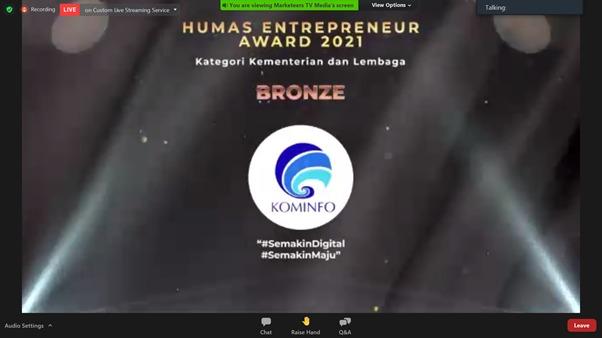Bronze Winner Humas Kominfo