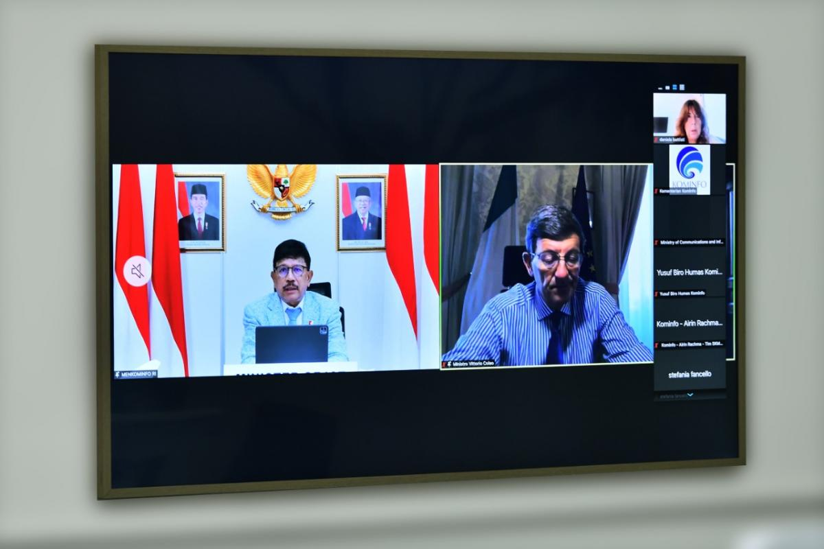 Menkominfo bilateral meeting G20 Italia 2