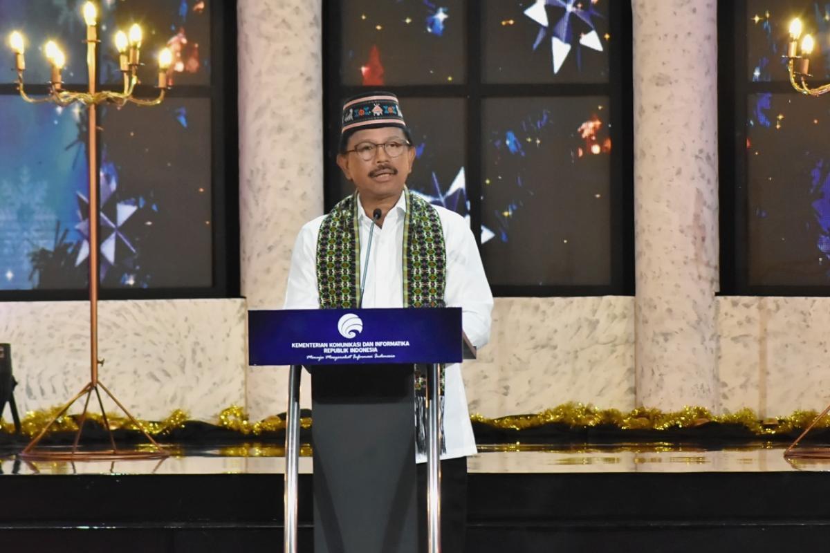 Menteri Kominfo dalam Perayaan Natal Nasional 2020