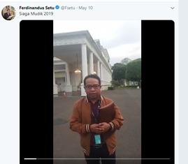 Plt Karo Humas Kominfo dalam cuitannya soal mudik 2019