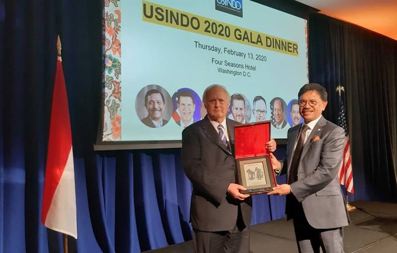 President of USINDO David Merril bersama Menkominfo