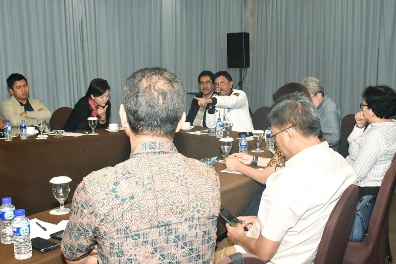 Suasana rapat forum pemred HPN 2020