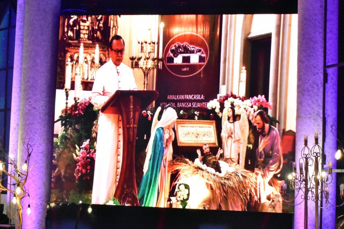 Uskup Agung Jakarta dalam Perayaan Natal nasional 2020