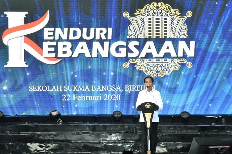 sambutan presiden di acara kenduri kebangsaan