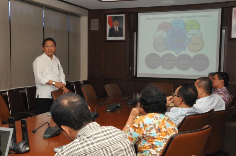 Menteri Kominfo Kunjungan ke Kompas