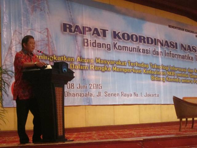 Menteri Rudiantara Buka Rakornas Kominfo 2015