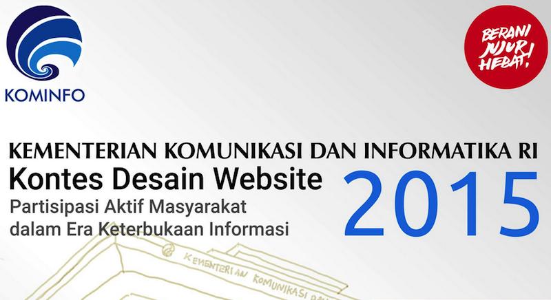 Pengumuman 5 (Lima) Finalis Kontes Desain Website Kominfo Tahun 2015