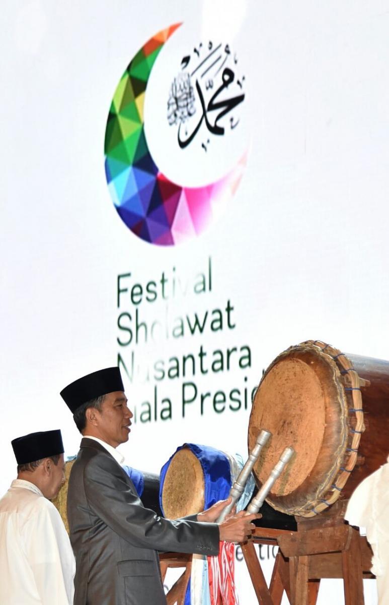 Presiden Buka Festival Sholawat Nusantara Piala Presiden di sentul