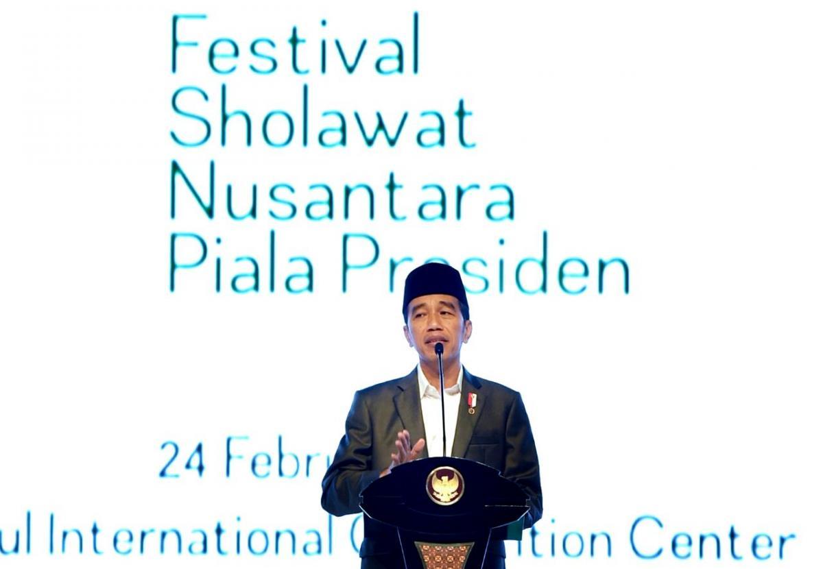Presiden Buka Festival Sholawat Nusantara Piala Presiden di sentul bogor