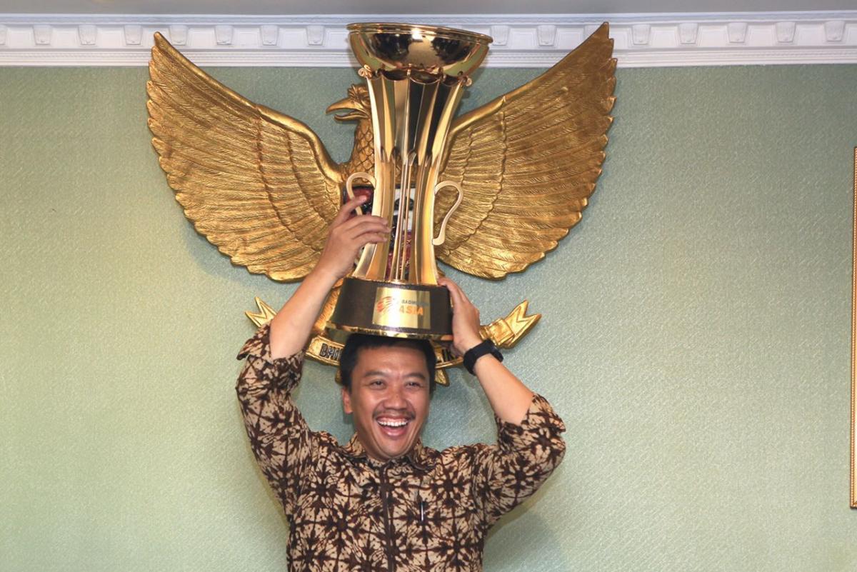 Sambut Juara Bulutangkis Beregu Asia 2018, Menpora Beri Bonus Tim Indonesia (5)
